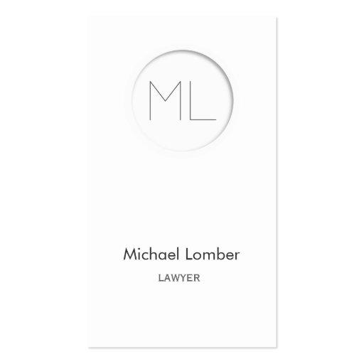 Minimalistic modern Business Card