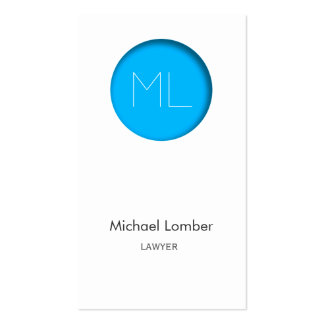 Minimalistic modern Business Card blue circle