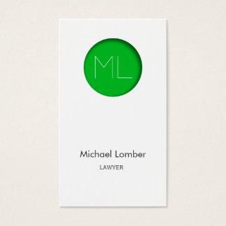 Minimalistic modern Business Card green circle