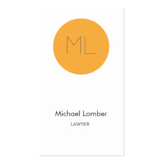 Minimalistic modern Business Card orange circle