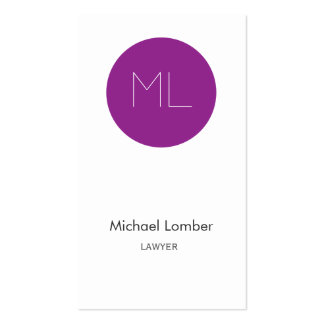 Minimalistic modern Business Card purple circle