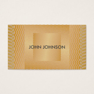 Minimalistic Modern Golden Chic Vip Business Card