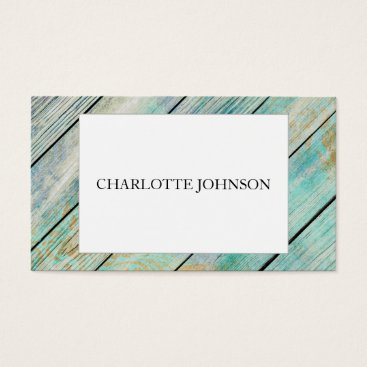 Professional Business Minimalistic Modern Mint White Vip Business Card