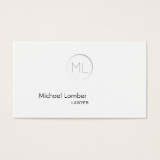 Minimalistic Modern Monogram Business Card
