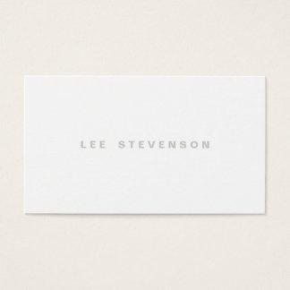 Minimalistic Modern Plain White Professional Business Card