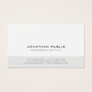 Minimalistic Modern Professional Elegant Plain Business Card