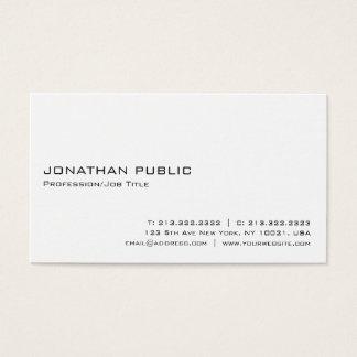 Minimalistic Modern Professional Elegant White Business Card