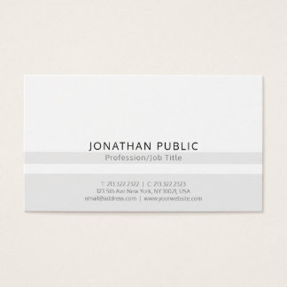 Minimalistic Modern Professional Simple Plain Business Card