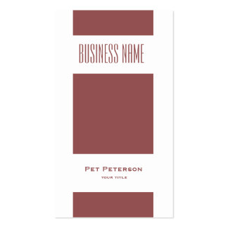Minimalistic modern square marsala Double-Sided standard business cards (Pack of 100)