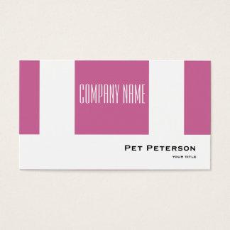 Minimalistic modern square purple business card