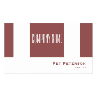 Minimalistic modern square Trend Color Marsala Double-Sided Standard Business Cards (Pack Of 100)