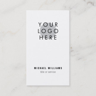 Minimalistic modern Your Logo Business Card