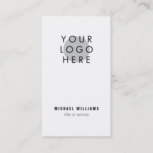 Minimalistic modern Your Logo Business Card