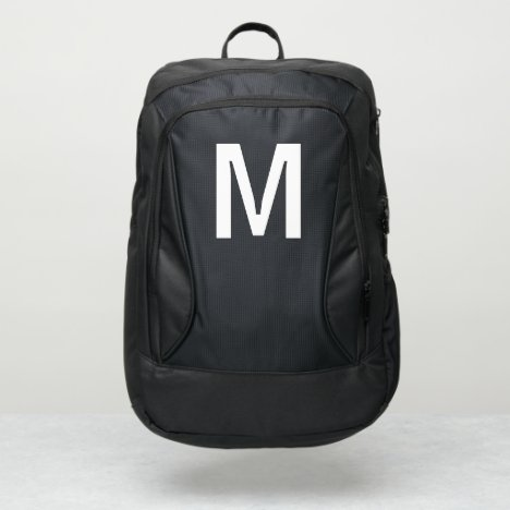 Minimalistic Monogram Letter Initial Port Authority® Backpack