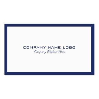 Minimalistic Navy-Blue Border On White Business Card