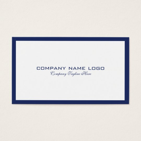 Minimalistic navy blue border on white business card zazzle minimalistic navy blue border on white business card reheart Gallery