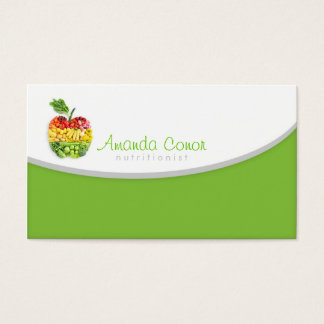 Minimalistic Nutritionist/Nutrition Coach Card