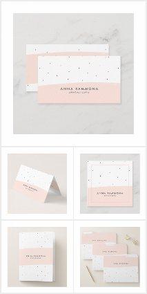 Minimalistic Pastel Pink & White Brushstrokes