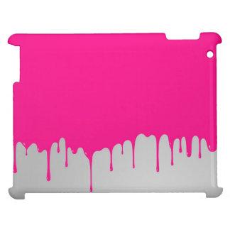 minimalistic pink paint iPad case