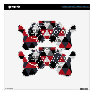 Minimalistic polygon pattern (Prism) Decal For PS3 Controller