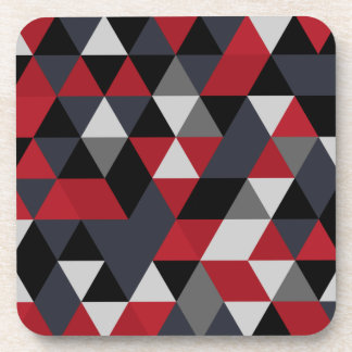 Minimalistic polygon pattern (Prism) Drink Coaster