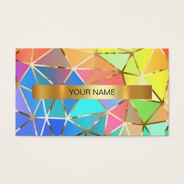 Professional Business Minimalistic Rainbow Blue Mint Vip Business Card