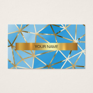Professional Business Minimalistic Rainbow Mint Blue Vip Business Card