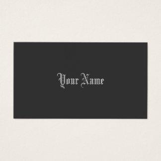 Minimalistic Rebel Cool Black Business Card