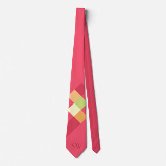 Minimalistic Red Squares and Monogram Tie