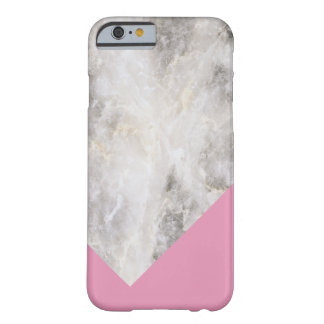 Minimalistic rosa de mármol del bloque de w \ del funda barely there iPhone 6