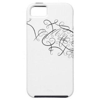 Minimalistic Scribble Spiral Design iPhone SE/5/5s Case