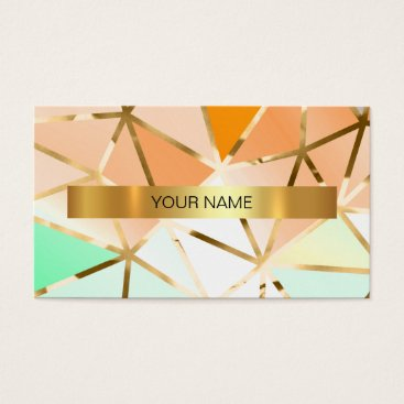 Professional Business Minimalistic Shiny Gold Mint Vip Business Card