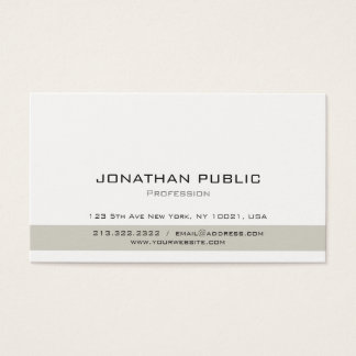 Minimalistic Simple Plain Professional Modern Business Card