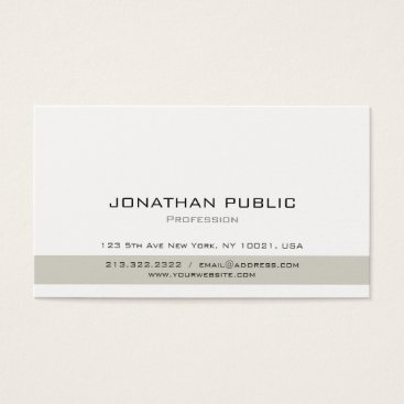 Lawyer Themed Minimalistic Simple Plain Professional Modern Business Card