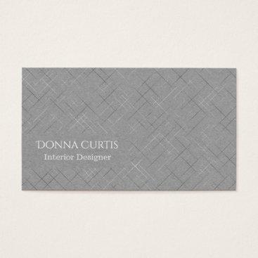 Beach Themed Minimalistic Sketchy Stripes Business Card