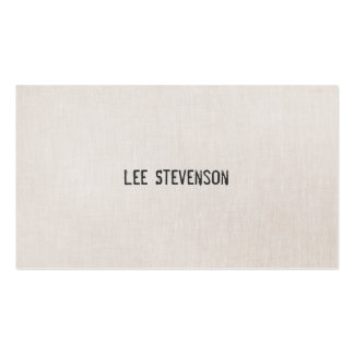 Minimalistic Stamp Effect Font Linen Look Double-Sided Standard Business Cards (Pack Of 100)