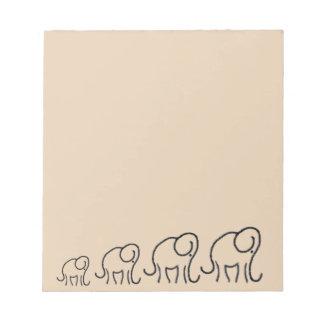 Minimalistic Stylised Elephants Parade Notepad