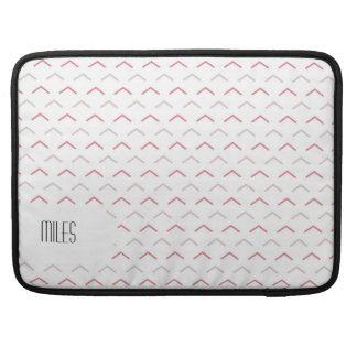 Minimalistic White and Arrow Head Pattern Sleeve For MacBooks