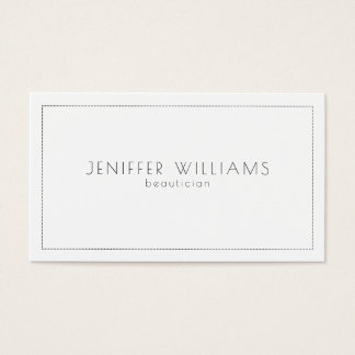 Minimalistic white and gray simple frame business card