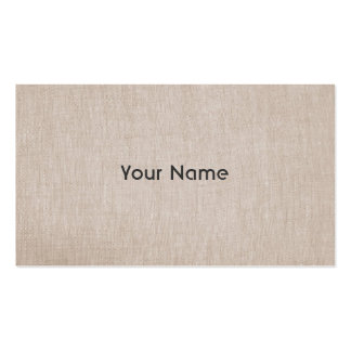Minimalistic Zen Teacher Natural Linen Look Double-Sided Standard Business Cards (Pack Of 100)