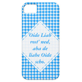 Minimalistisch azules blancas funda para iPhone 5 barely there