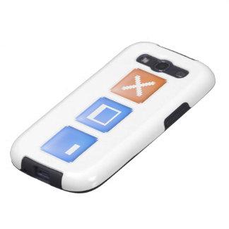 Minimice maximizan Internet cercano del ordenador Samsung Galaxy S3 Cárcasas