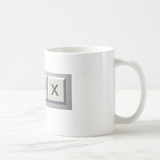 Minimize restore close coffee mug