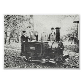 Minimum Gauge Engine Eaton 1896 Victorian Poster