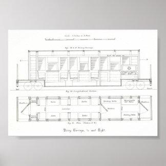 Minimum gauge railway dining car design poster