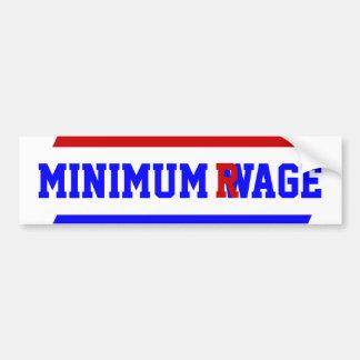 Minimum Wage ~ Rage Pay Economics Bumper Sticker