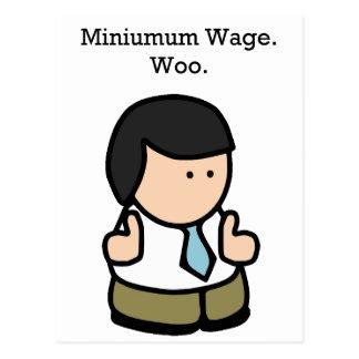 Minimum Wage Worker Post Card