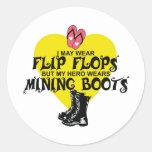 MINING BOOTS CLASSIC ROUND STICKER