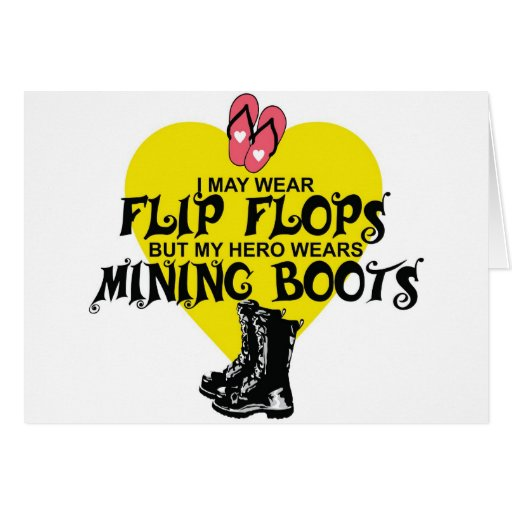 MINING BOOTS GREETING CARD