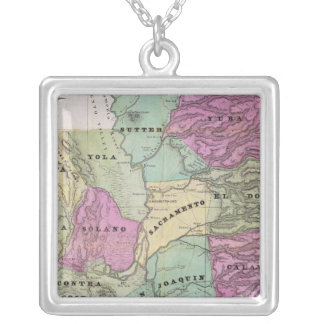 Mining District of California Silver Plated Necklace